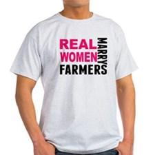 Real Women Marry Farmers T-Shirt