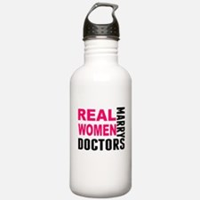 Real Women Marry Doctors Water Bottle