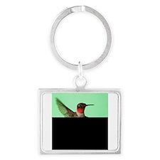 Ruby-Throated Hummingbird Keychains