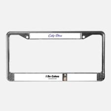 I do Cakes License Plate Frame