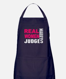 Real Women Marry Judges Apron (dark)