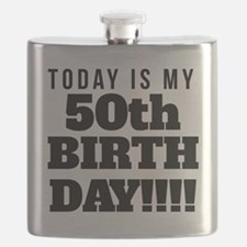 Today Is My 50th Birthday Flask
