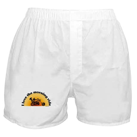 I Love the Morning Ride Boxer Shorts