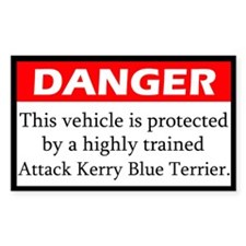 Attack Kerry Blue Terrier Decal