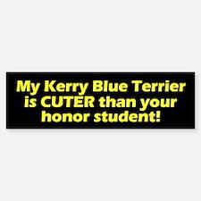 Cuter Kerry Blue Terrier Bumper Bumper Bumper Sticker