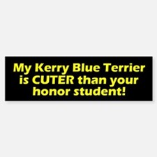 Cuter Kerry Blue Terrier Bumper Car Car Sticker