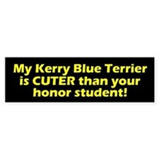 Cuter Kerry Blue Terrier Bumper Car Sticker