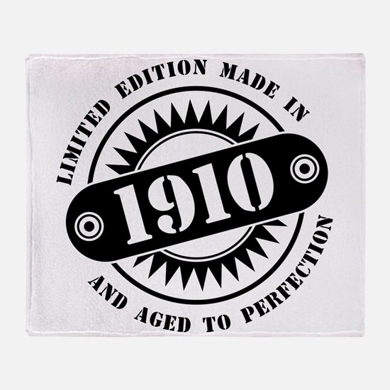 LIMITED EDITION MADE IN 1910 Throw Blanket