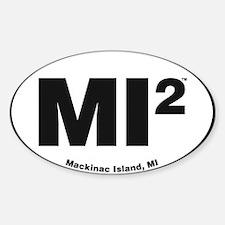 Cute Mackinac island Sticker (Oval)
