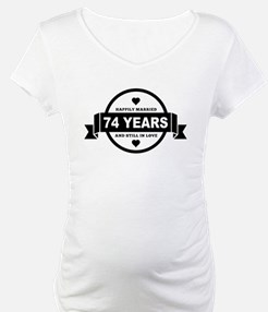 Happily Married 74 Years Shirt