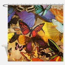 girly summer colorful butterfly Shower Curtain