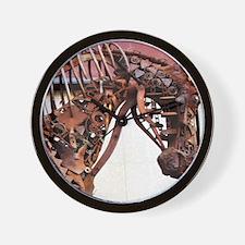 Mechanical Gears western horse Wall Clock