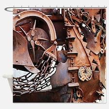 rustic Mechanical Gears steampunk  Shower Curtain