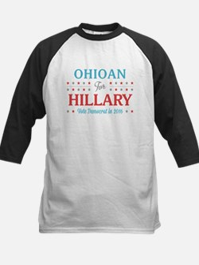 Ohioan for Hillary Baseball Jersey