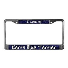 Funky Love Kerry Blue Terrier License Plate Frame