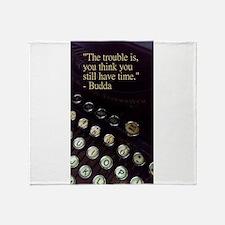 Time Vintage Typewriter Collection Throw Blanket