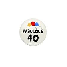 Fabulous 40 Mini Button (10 pack)