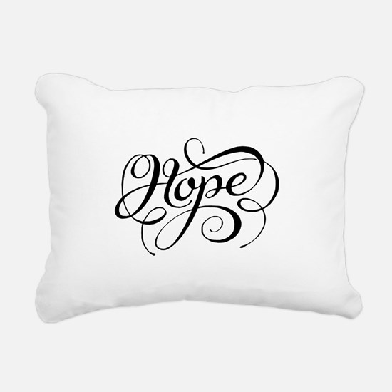 Hope (Looping) Rectangular Canvas Pillow