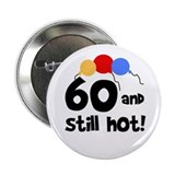 60th birthday buttons Single