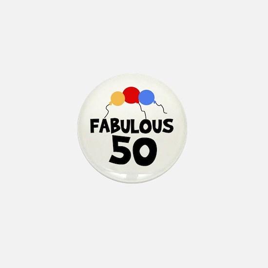 Fabulous 50 Mini Button