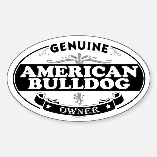 AMERICAN BULLDOG Oval Decal