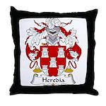 Heredia Family Crest Throw Pillow