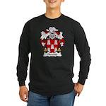 Heredia Family Crest Long Sleeve Dark T-Shirt