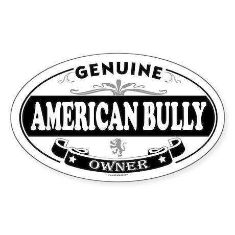 AMERICAN BULLY Oval Sticker