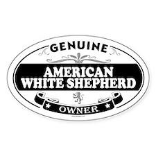 AMERICAN WHITE SHEPHERD Oval Decal