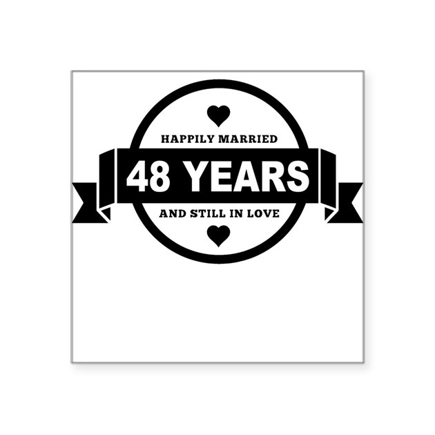 Happily Married 48 Years Sticker by WeddingAnniversary2