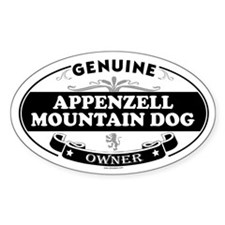 APPENZELL MOUNTAIN DOG Oval Decal
