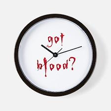 got blood? Wall Clock