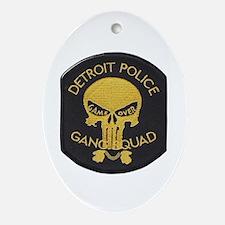 Detroit PD Gang Squad Oval Ornament