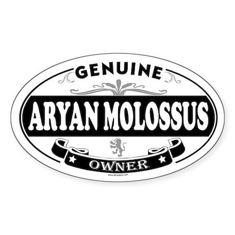ARYAN MOLOSSUS Oval Sticker