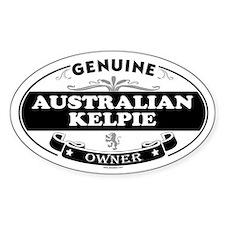 AUSTRALIAN KELPIE Oval Decal
