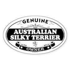 AUSTRALIAN SILKY TERRIER Oval Decal