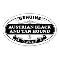 AUSTRIAN BLACK AND TAN HOUND Oval Decal