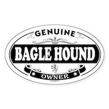 BAGLE HOUND Oval Decal