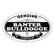 BANTER BULLDOGGE Oval Decal