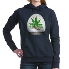 Merry Christmas Marijuan Women's Hooded Sweatshirt