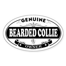 BEARDED COLLIE Oval Decal