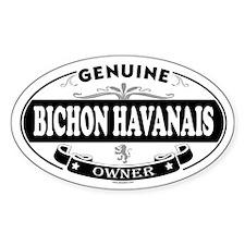 BICHON HAVANAIS Oval Decal