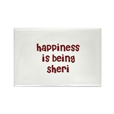 happiness is being Sheri Rectangle Magnet