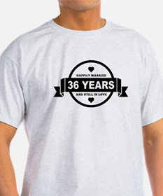 Happily Married 36 Years T-Shirt