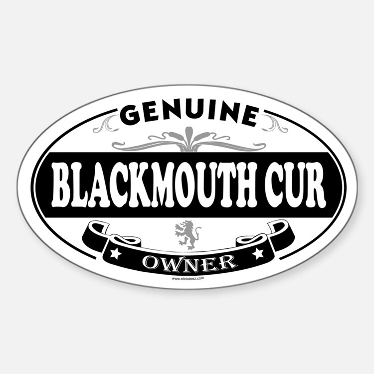 BLACKMOUTH CUR Oval Decal