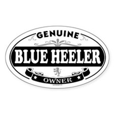 BLUE HEELER Oval Bumper Stickers