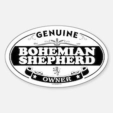 BOHEMIAN SHEPHERD Oval Decal