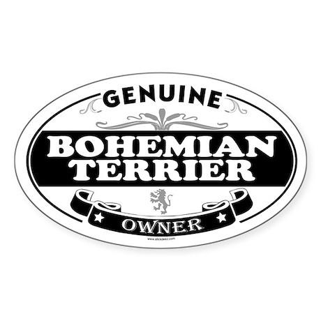 BOHEMIAN TERRIER Oval Sticker