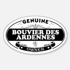 BOUVIER DES ARDENNES Oval Decal