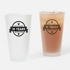Happily Married 30 Years Drinking Glass